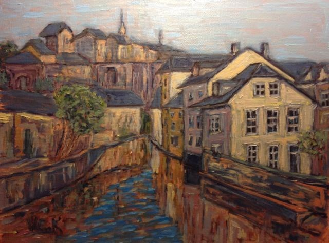 """Luxembourg"" original fine art by William Cook"