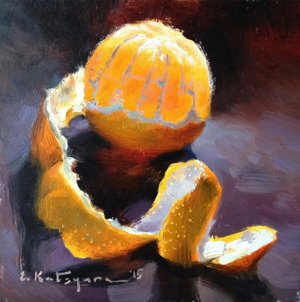 """Wednesday Citrus"" original fine art by Elena Katsyura"