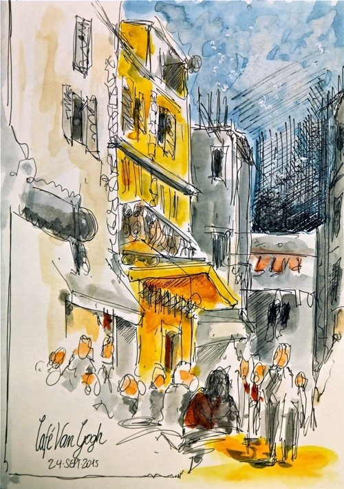 """1501 Arles"" original fine art by Dietmar Stiller"