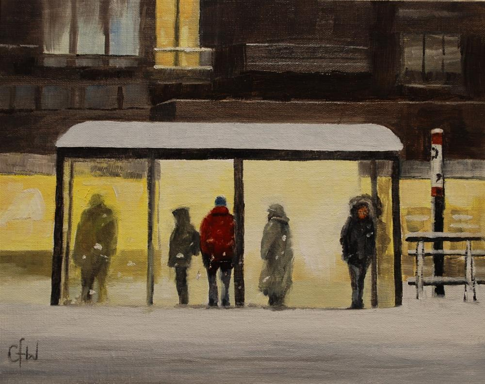 """Waiting For The Bus"" original fine art by Gary Westlake"