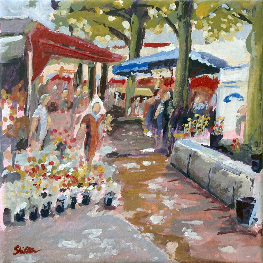 """""""1473 Outdoor Market Plein Air"""" original fine art by Dietmar Stiller"""