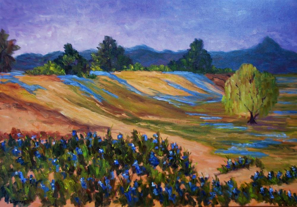 """Texas Hill Country Bluebonnets"" original fine art by Liz Zornes"