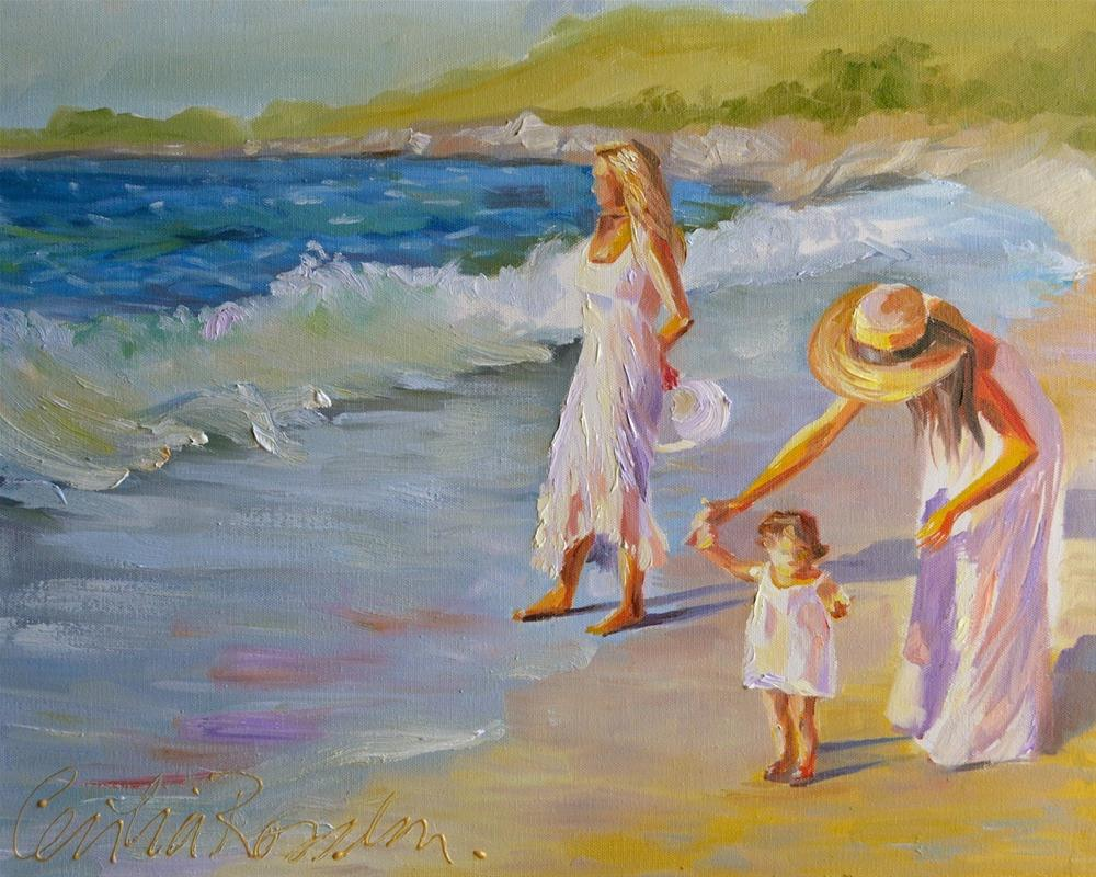"""FIRST WALK"" original fine art by Cecilia Rosslee"