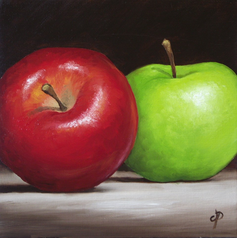 """Apples"" original fine art by Jane Palmer"