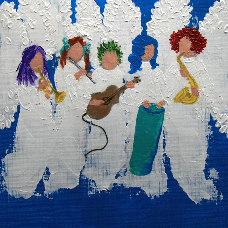 """Jazzy Angels"" original fine art by Jean Nelson"