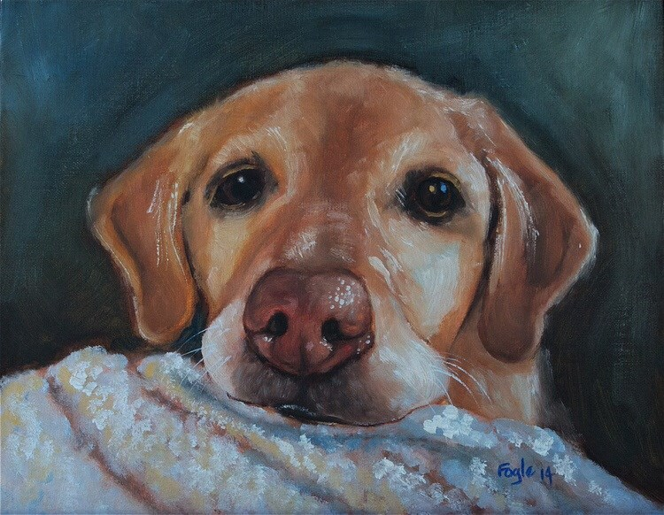 """Can I have some, PLEASE?"" original fine art by Rachel Fogle"