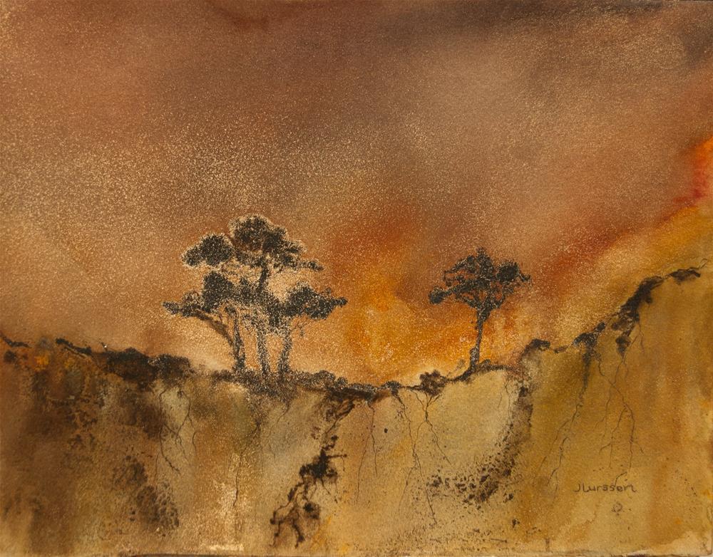 """""""Golden Sunset"""" original fine art by Jean Lurssen"""