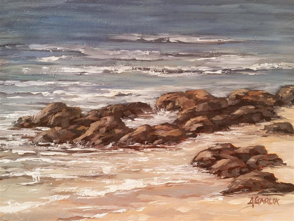 """Lava and Sand III"" original fine art by Jeannie Garcia"