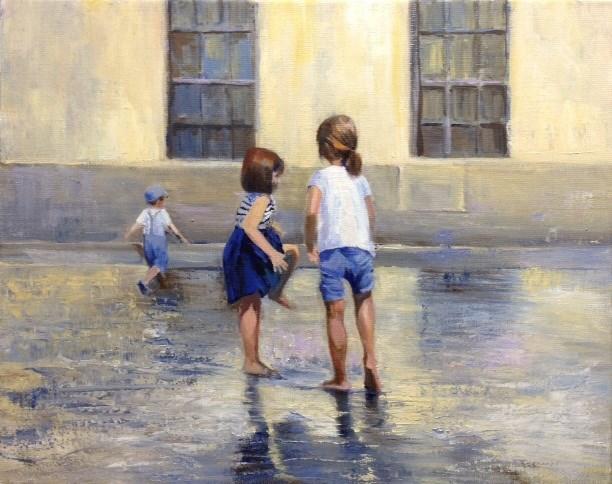 """""""Splish Splash"""" original fine art by Cathy Boyd"""