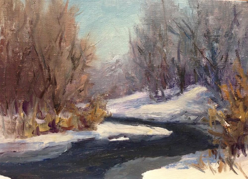 """Winter Creek"" original fine art by Judith Anderson"