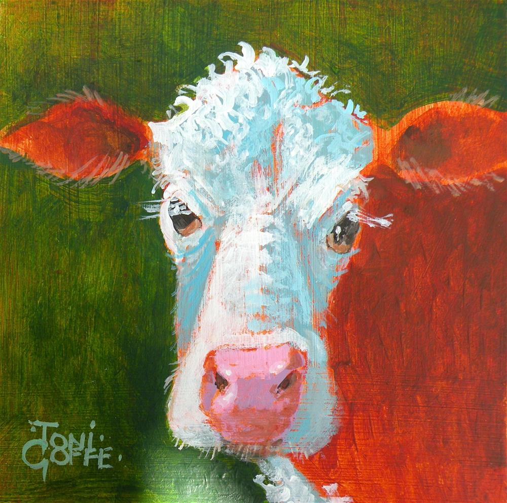 """Grumpy"" original fine art by Toni Goffe"