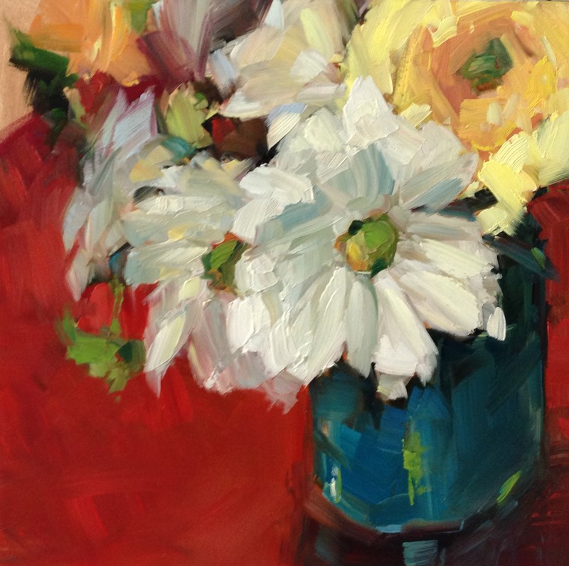 """Flowers From a Friend"" original fine art by Patti McNutt"
