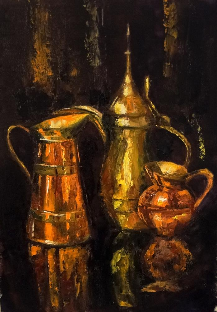 """""""Copper challenge"""" original fine art by Karen Robinson"""