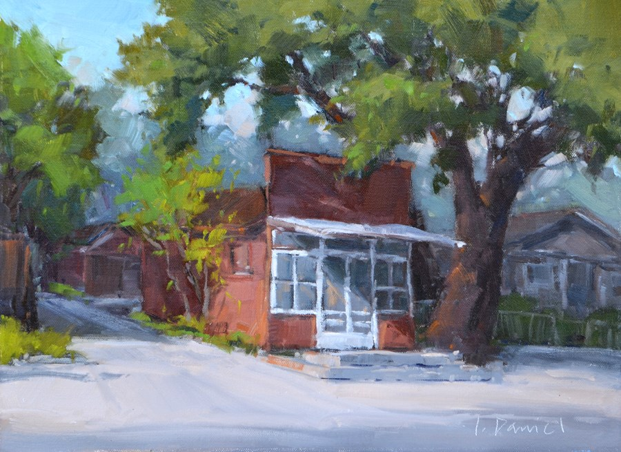 """Miss Kitty's Shop - Kerrville Outdoor Painting Event"" original fine art by Laurel Daniel"
