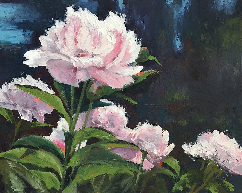 """Pink Peonies"" original fine art by Andrea Jeris"