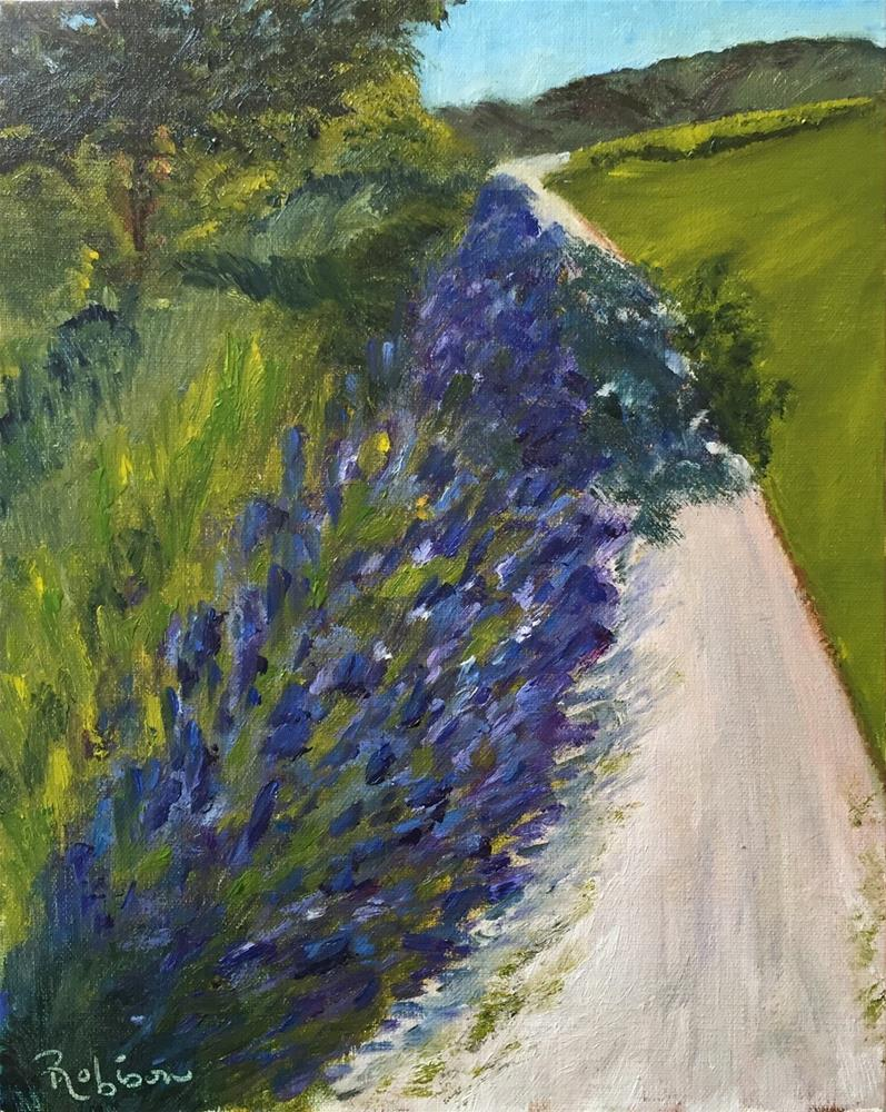 """Lavender Road"" original fine art by Renee Robison"