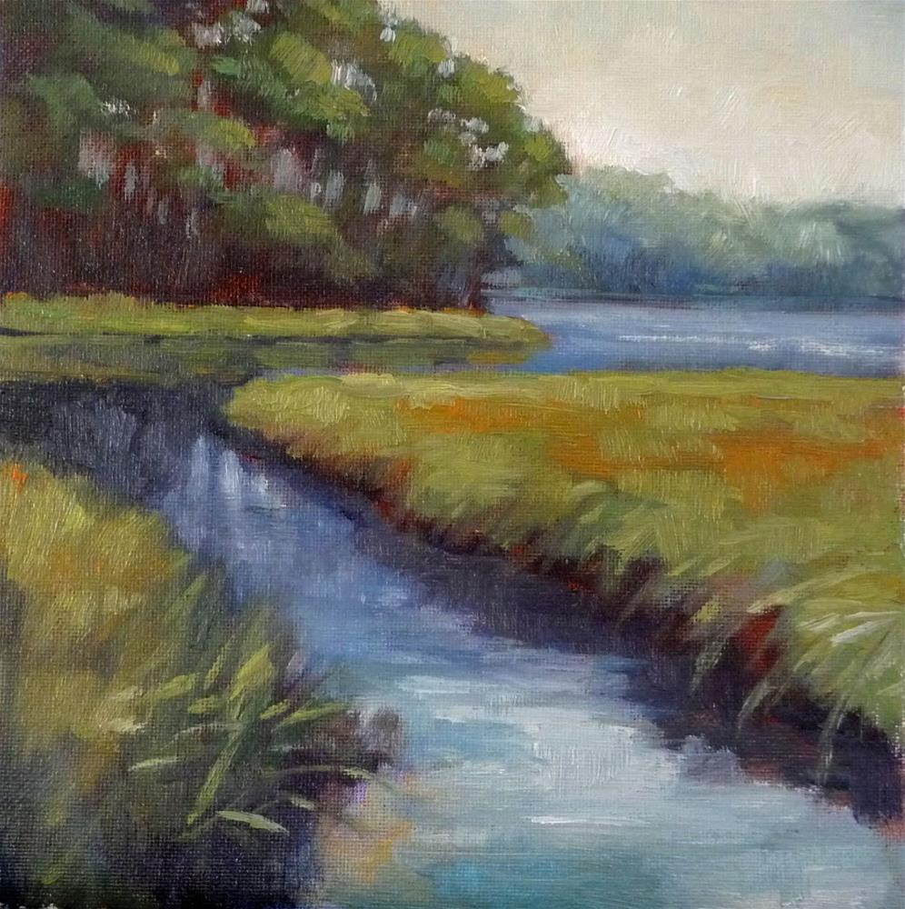 """Marsh Grasses"" original fine art by Lisa Kyle"