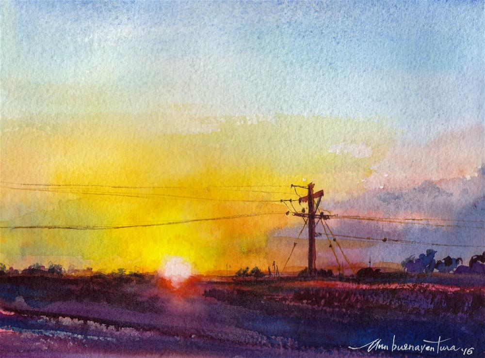 """Electrifying Sunset"" original fine art by Ann Buenaventura"