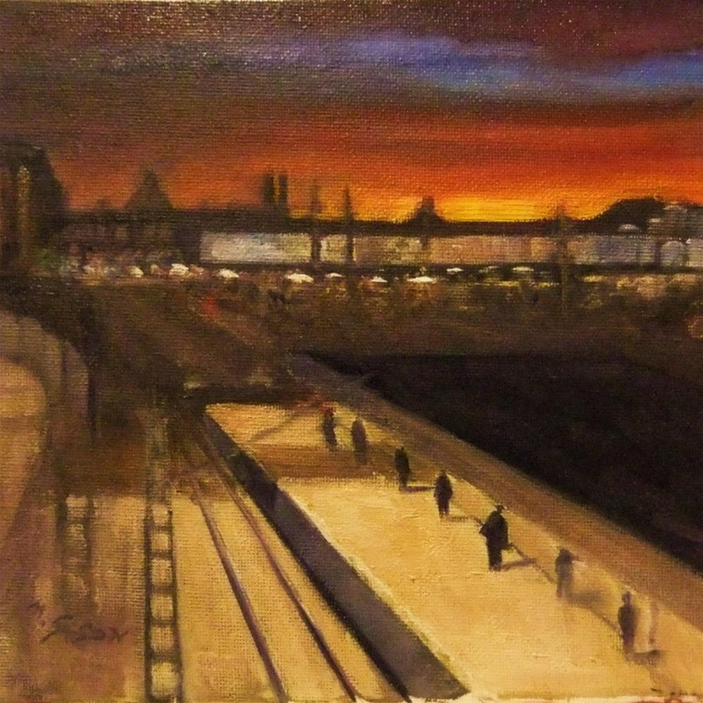 """Early Departure"" original fine art by Michael Sason"