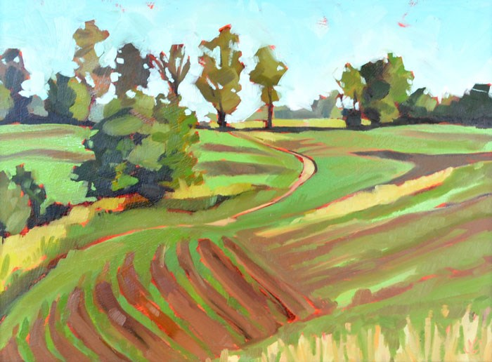 """Rolling Field"" original fine art by Jessica Green"