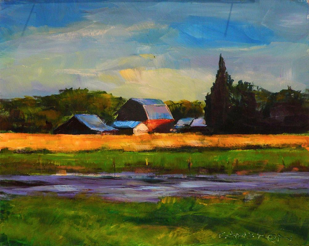 """VALLEY FARM"" original fine art by Brian Cameron"