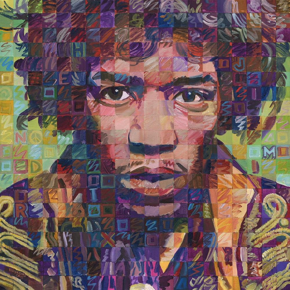 """""""Jimi Hendrix #2"""" original fine art by Randal Huiskens"""
