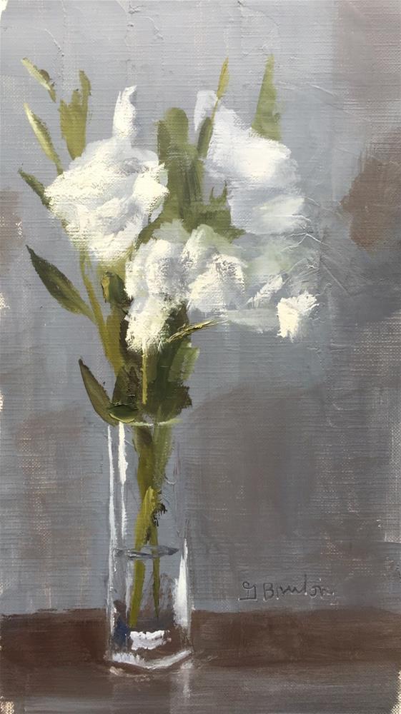 """Lisianthus Study, Morning II"" original fine art by Gary Bruton"