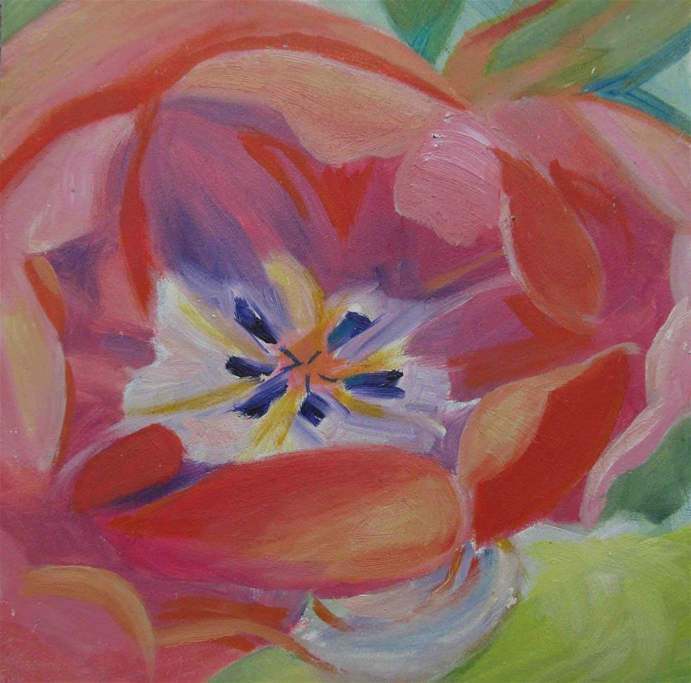 """""""Coral Tulip"""" original fine art by Anne Small"""