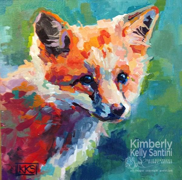 """Fox Kit"" original fine art by Kimberly Santini"