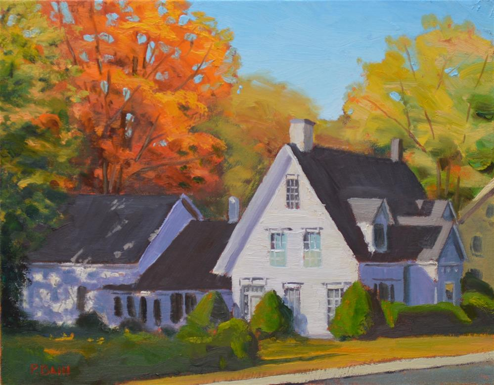 """New Hampshire House, Fall"" original fine art by Peter Bain"