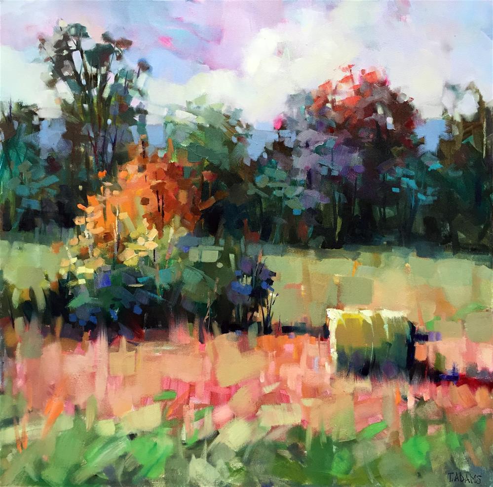 """Single Hay Roll"" original fine art by Trisha Adams"