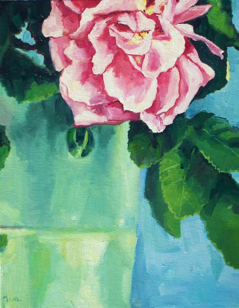 """Pink Peony"" original fine art by Nava Judith"