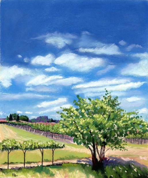 Artesa Vineyards & Winery, Napa CA original fine art by Ria Hills
