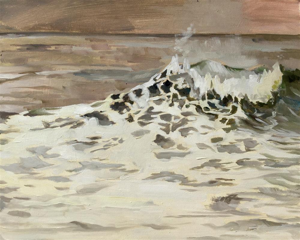 """Sepia Wave"" original fine art by Lauren Kuhn"