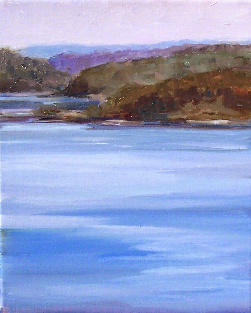 """Islands,landscape,oil on canvas,10x8,price$400"" original fine art by Joy Olney"