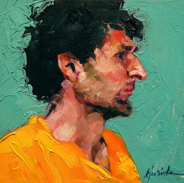 """100 Faces, No. 9"" original fine art by Karin Jurick"