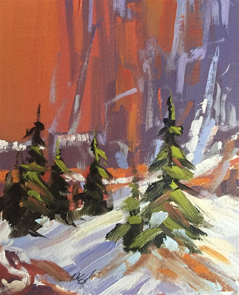 """Kolob Walls 6"" original fine art by Mary Jabens"