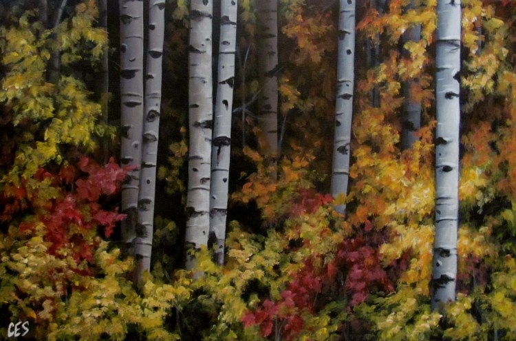 """Autumn Expressions"" original fine art by ~ces~ Christine E. S. Code"