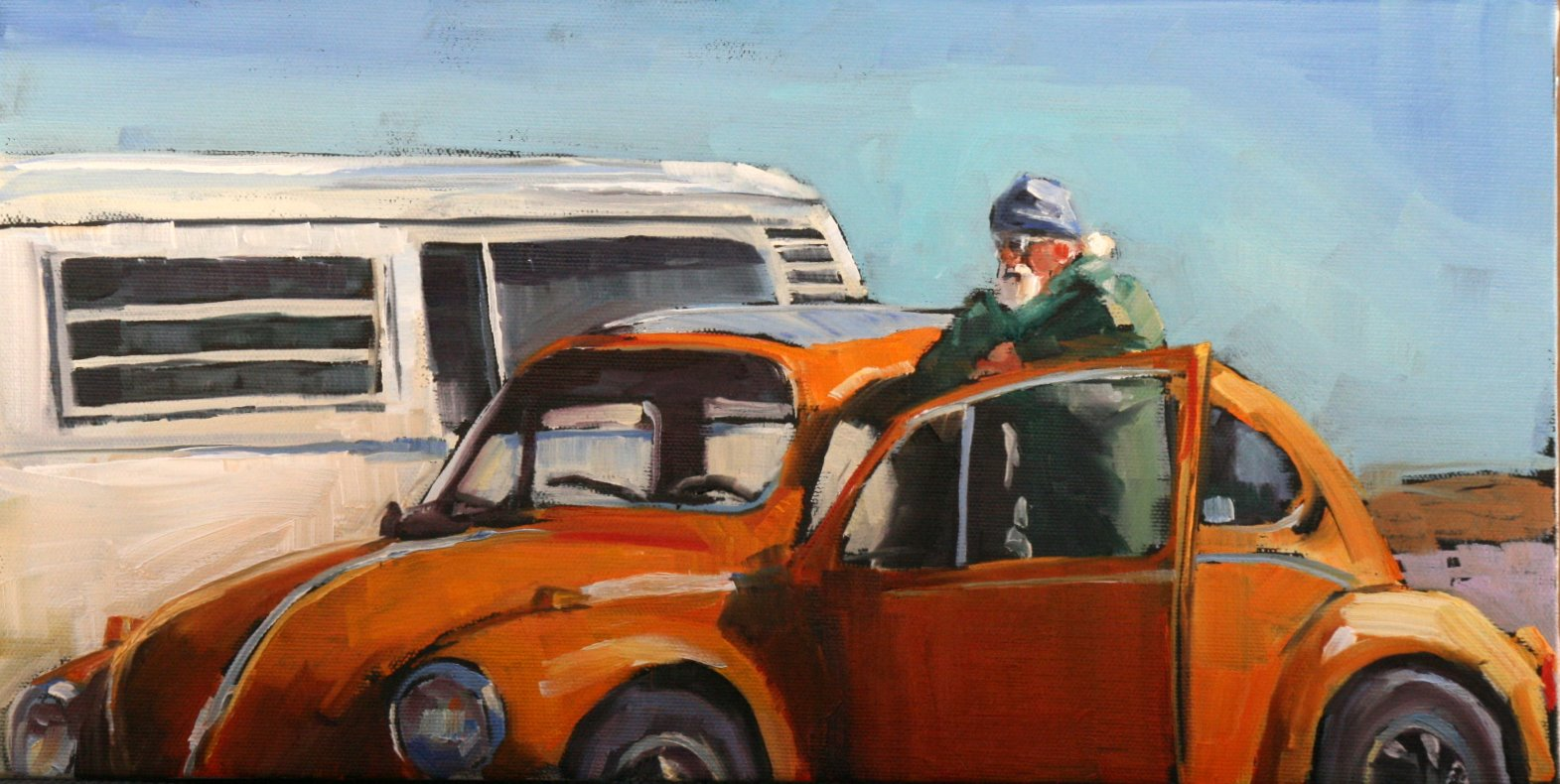 """VW duo"" original fine art by Carol Carmichael"