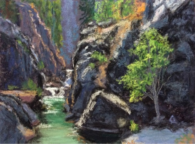 """THE GORGE"" original fine art by Marti Walker"