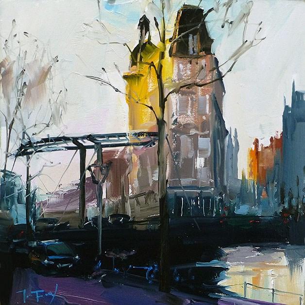 """""""Straßen von Amsterdam"""" original fine art by Jurij Frey"""