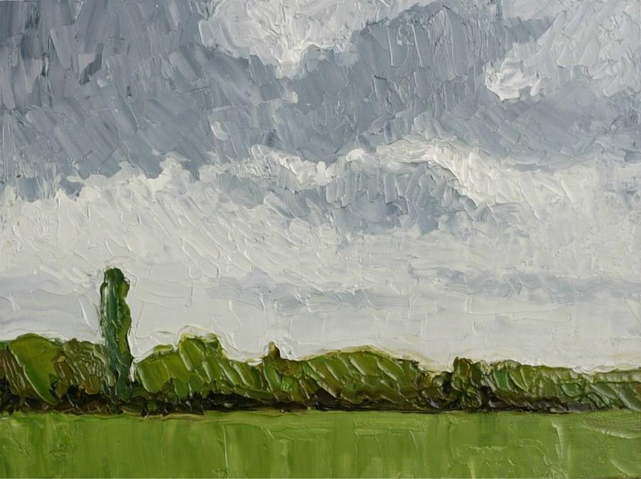 """Cloud Study"" original fine art by Jethro Knight"