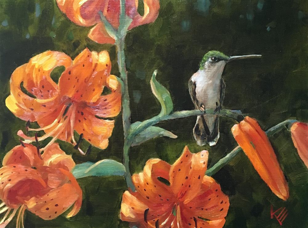 """Lady & Lilies"" original fine art by Krista Eaton"