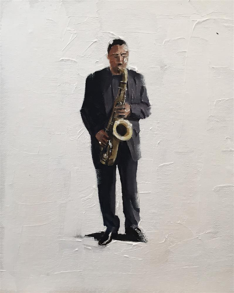 """The Sax Man"" original fine art by James Coates"