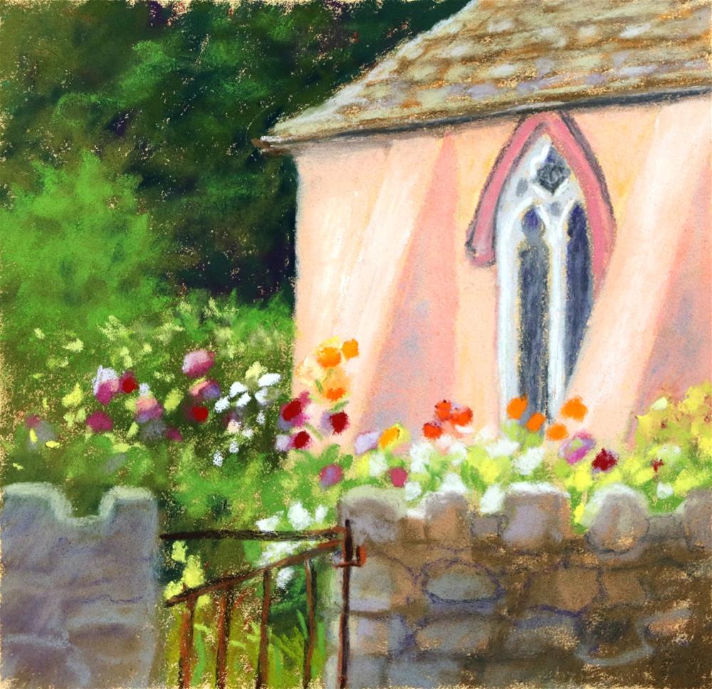 """""""Heavenly Dahlias"""" original fine art by Christine Derrick"""