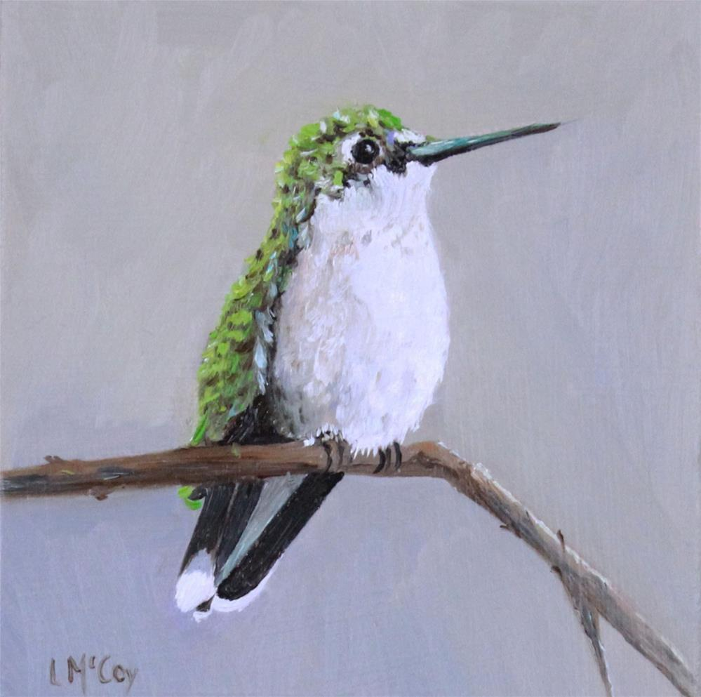 """Dream, Hummingbird Oil Painting"" original fine art by Linda McCoy"