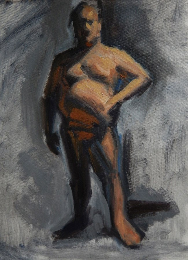 """Patrick, 9 x 12 inches, oil on canvas board, 2014"" original fine art by Megan Schembre"