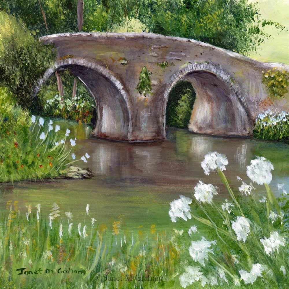 """Spring Bridge"" original fine art by Janet Graham"