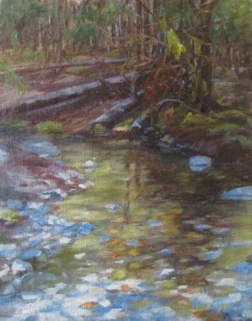 """Juneau Woods"" original fine art by Christine Lewis"