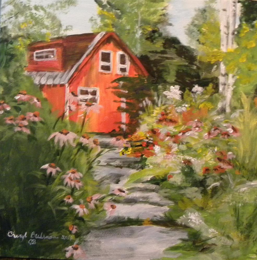 """Cottage Garden"" original fine art by cheryl buhrman"